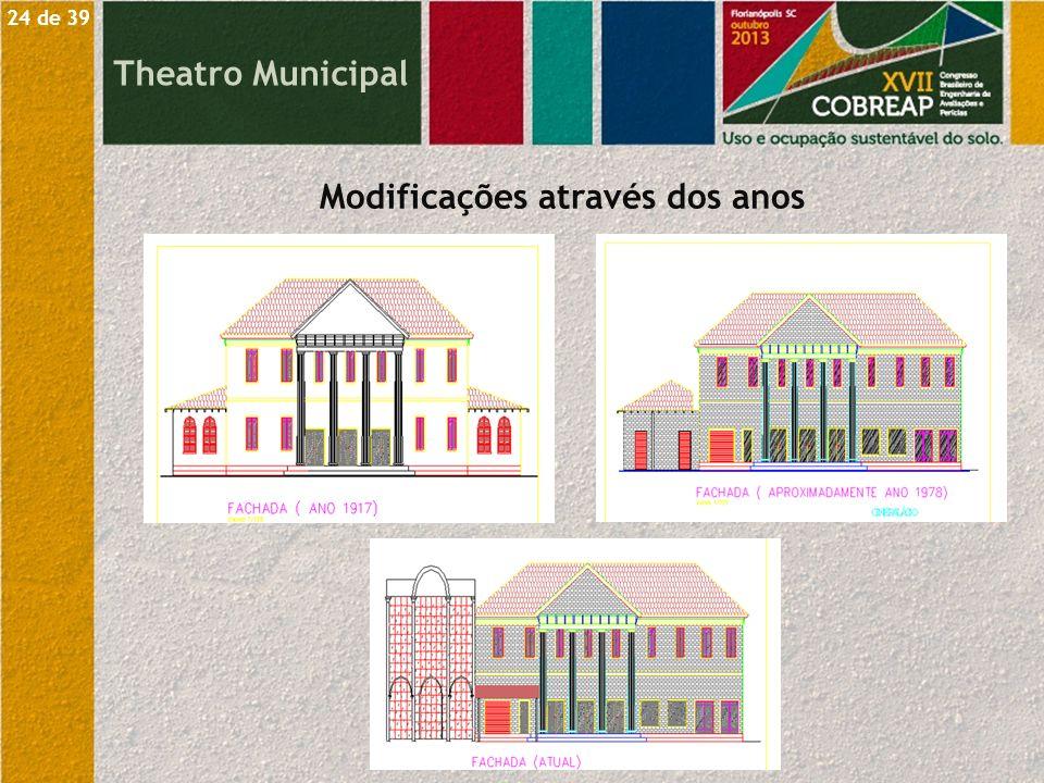 Theatro Municipal Modificações através dos anos 24 de 39