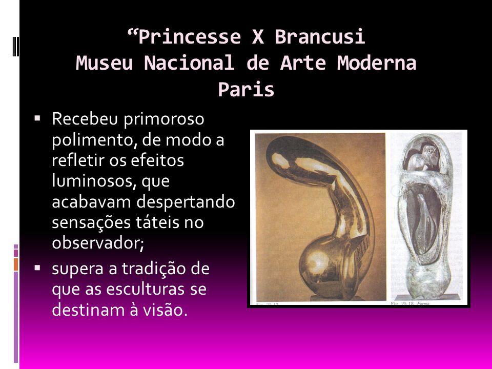 Princesse X Brancusi Museu Nacional de Arte Moderna Paris Recebeu primoroso polimento, de modo a refletir os efeitos luminosos, que acabavam despertan