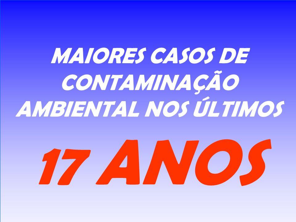 MAIORES CASOS DE CONTAMINAÇÃO AMBIENTAL NOS ÚLTIMOS 17 ANOS