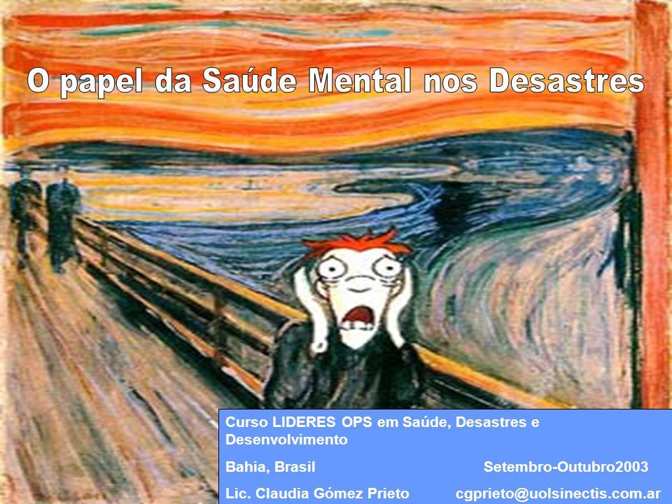 Funções ãreconhecimento ãconscientização ãcontenção ãcomunicação Os Profissionais da Saúde Mental na Redução de riscos