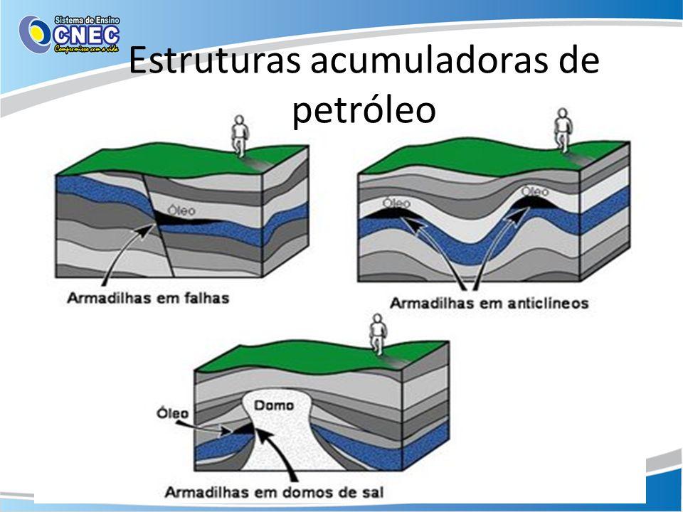 Estruturas acumuladoras de petróleo