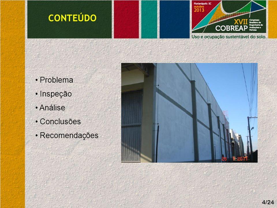 CONTEÚDO 4/24 Problema Inspeção Análise Conclusões Recomendações
