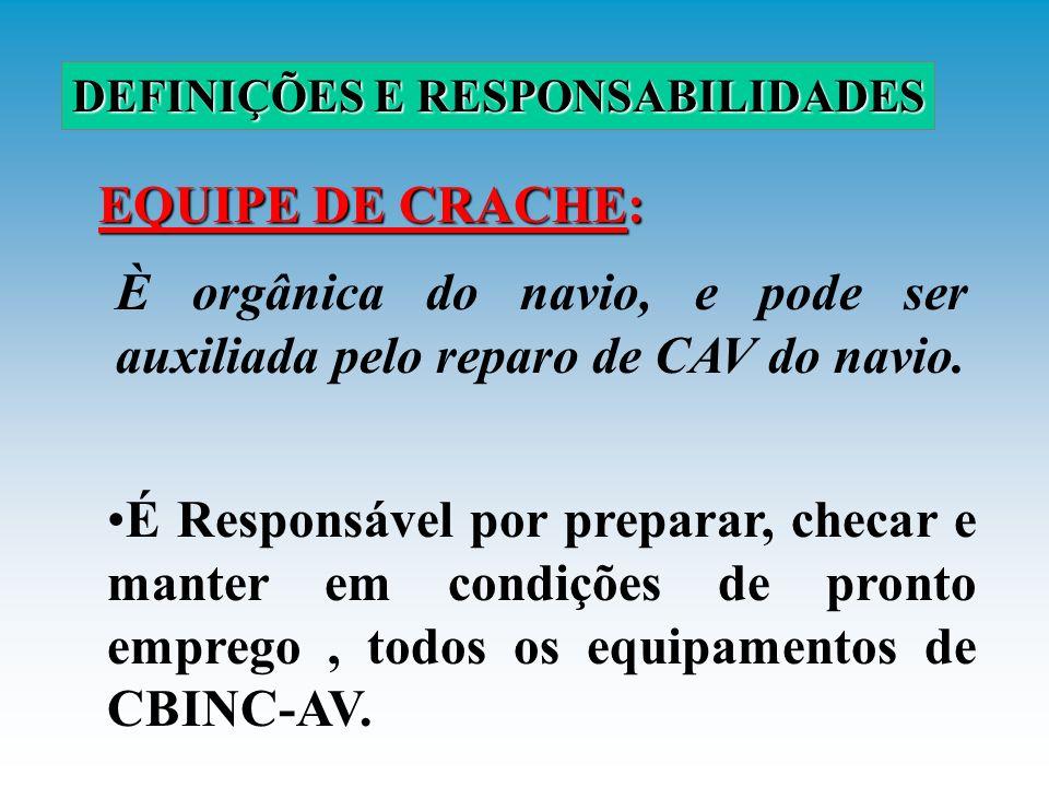 SECUNDÁRIAS: ATRIBUIÇÕES Reserva da equipe de manobra Alijamento/remoção da aeronave acidentada