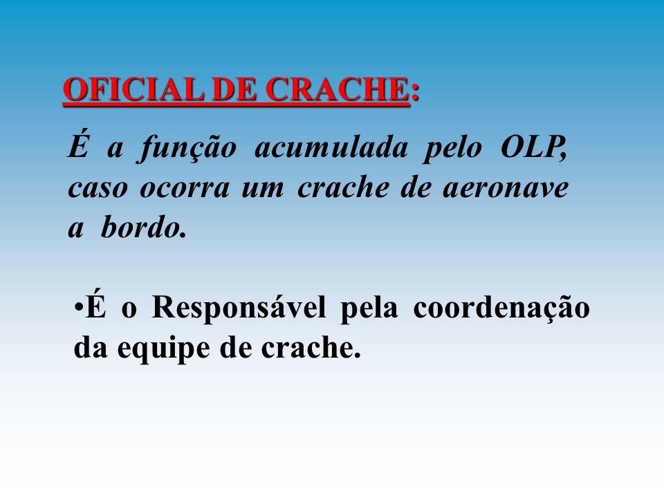 EQUIPE DE CRACHE: DEFINIÇÕES E RESPONSABILIDADES È orgânica do navio, e pode ser auxiliada pelo reparo de CAV do navio.