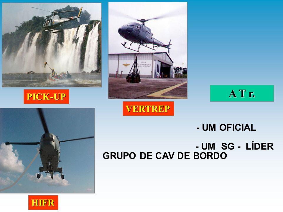 Dois CB/MN - Combate a incêndio e salvamento; Três CB/MN - Operadores das linhas de espuma; Um Oficial - Oficial de Crache; Três CB/MN - Operadores das linhas de proteção; Um Oficial (MD) - Médico; Um SG/CB-EF - Enfermeiro.
