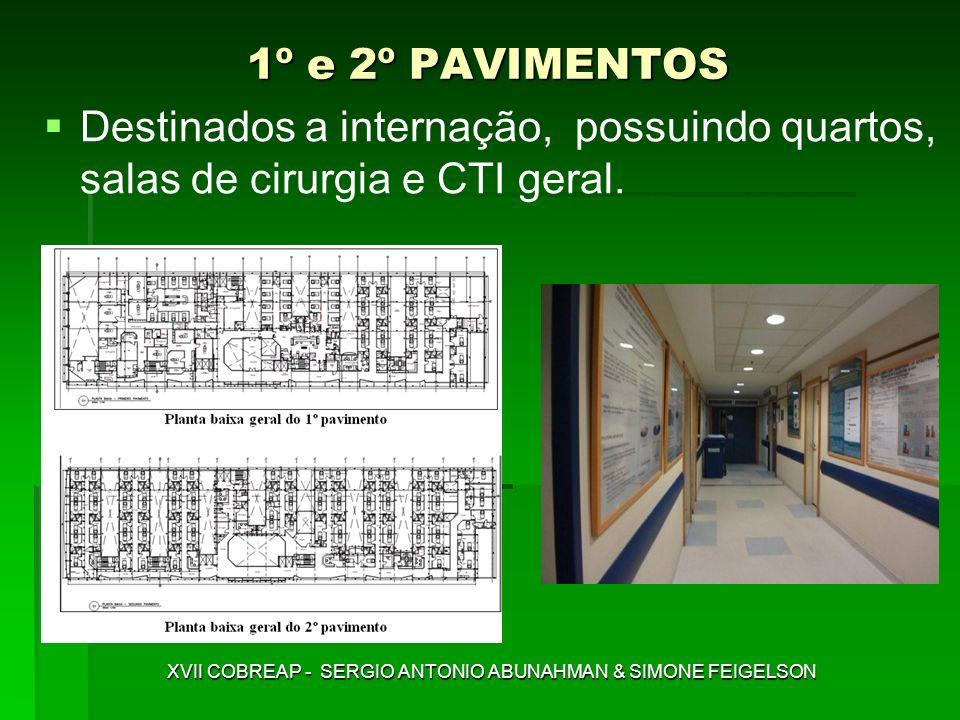1º e 2º PAVIMENTOS Destinados a internação, possuindo quartos, salas de cirurgia e CTI geral. XVII COBREAP - SERGIO ANTONIO ABUNAHMAN & SIMONE FEIGELS