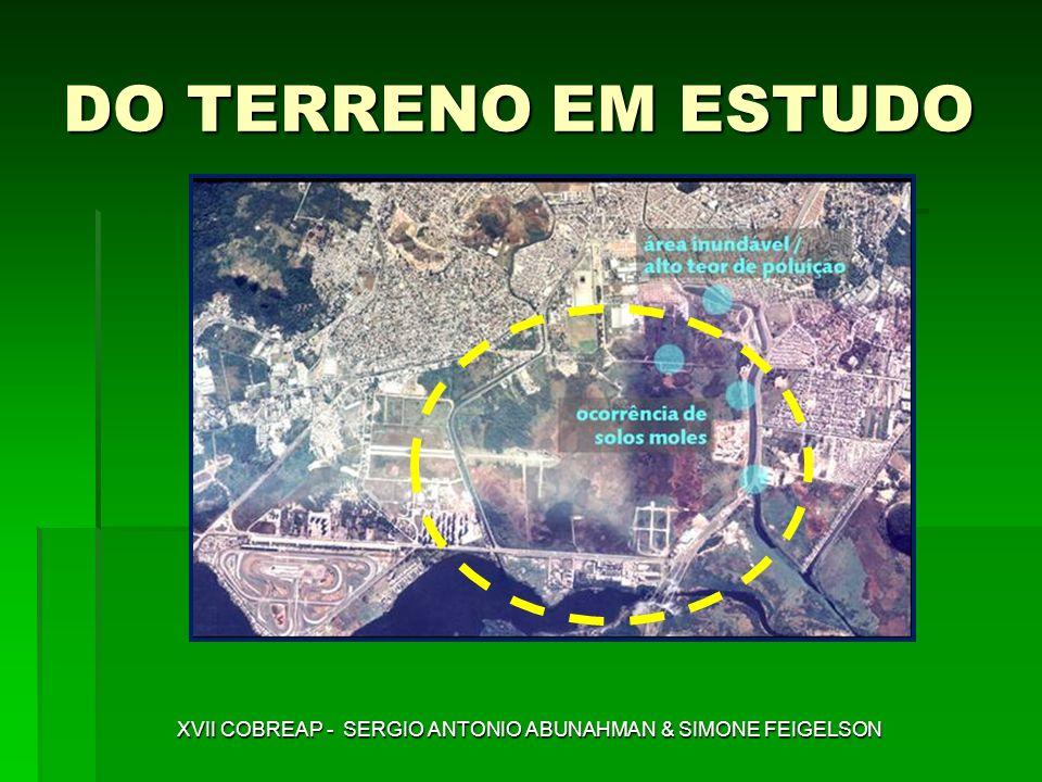 DO TERRENO EM ESTUDO XVII COBREAP - SERGIO ANTONIO ABUNAHMAN & SIMONE FEIGELSON
