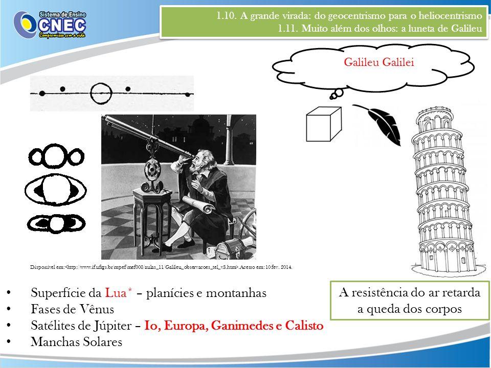 1.10. A grande virada: do geocentrismo para o heliocentrismo 1.11. Muito além dos olhos: a luneta de Galileu 1.10. A grande virada: do geocentrismo pa