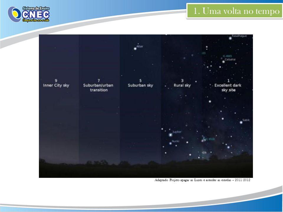 1. Uma volta no tempo Adaptado Projeto apagar as Luzes e acender as estrelas – 2011/2012