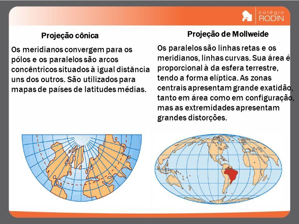 É possível eliminar as deformidades em um mapa ao representar áreas da Terra? Os sistemas de projeções constituem-se de uma fórmula matemática que tra
