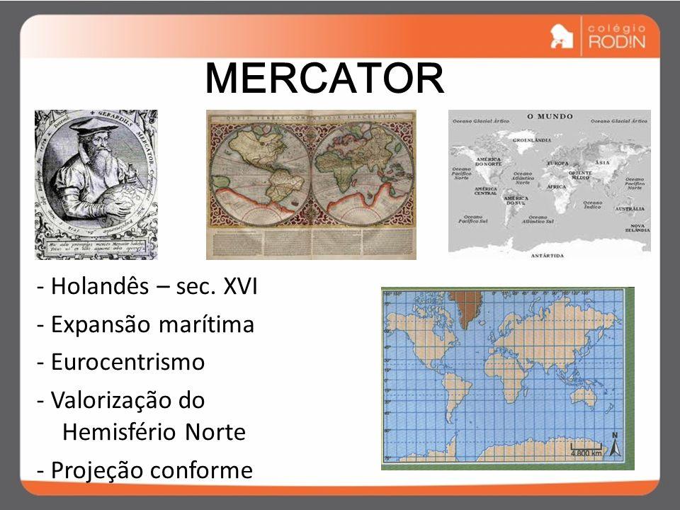 PROJEÇÃO CILÍNDRICA MERCATOR & PETER