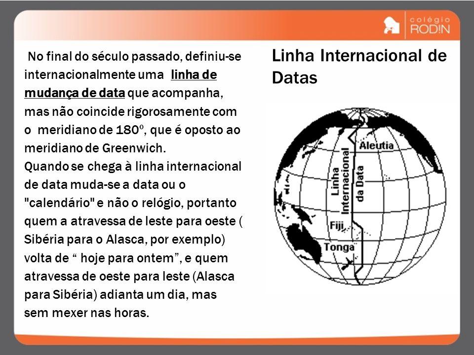 O Brasil, devido à sua extensão no sentido leste- oeste, apresenta quatro fusos horários diferentes. Dividindo os 360º da circunferência terrestre por