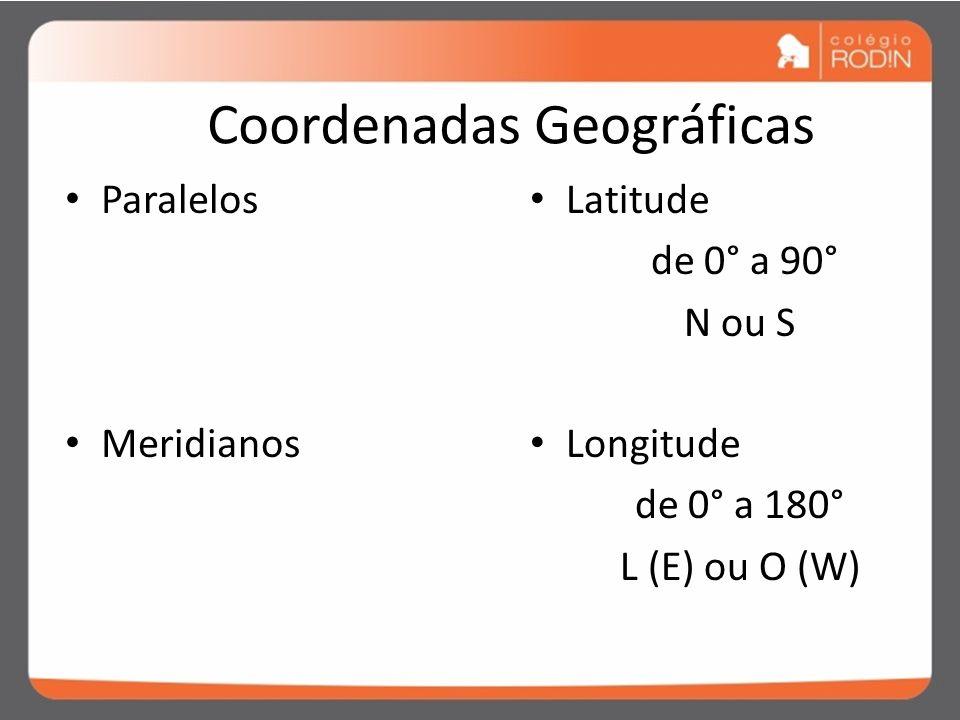 COORDENADAS GEOGRÁFICAS São linhas imaginárias traçadas sobre os mapas, essenciais para a localização de um ponto na superfície terrestre. Essa locali