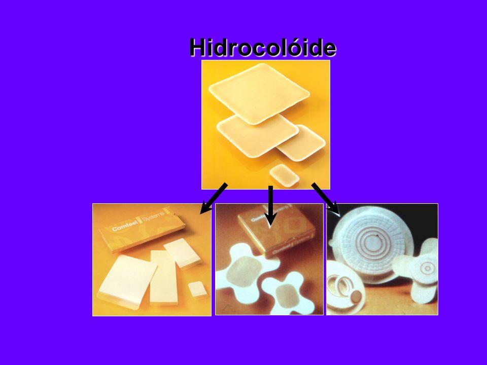 b Proporciona o meio ideal para a cicatrização b Alivia a dor b É fácil de usar b É econômico b Atende a todas as fases no processo de cicatrização Hidrocolóide e Alginato de Cálcio Principais Benefícios: