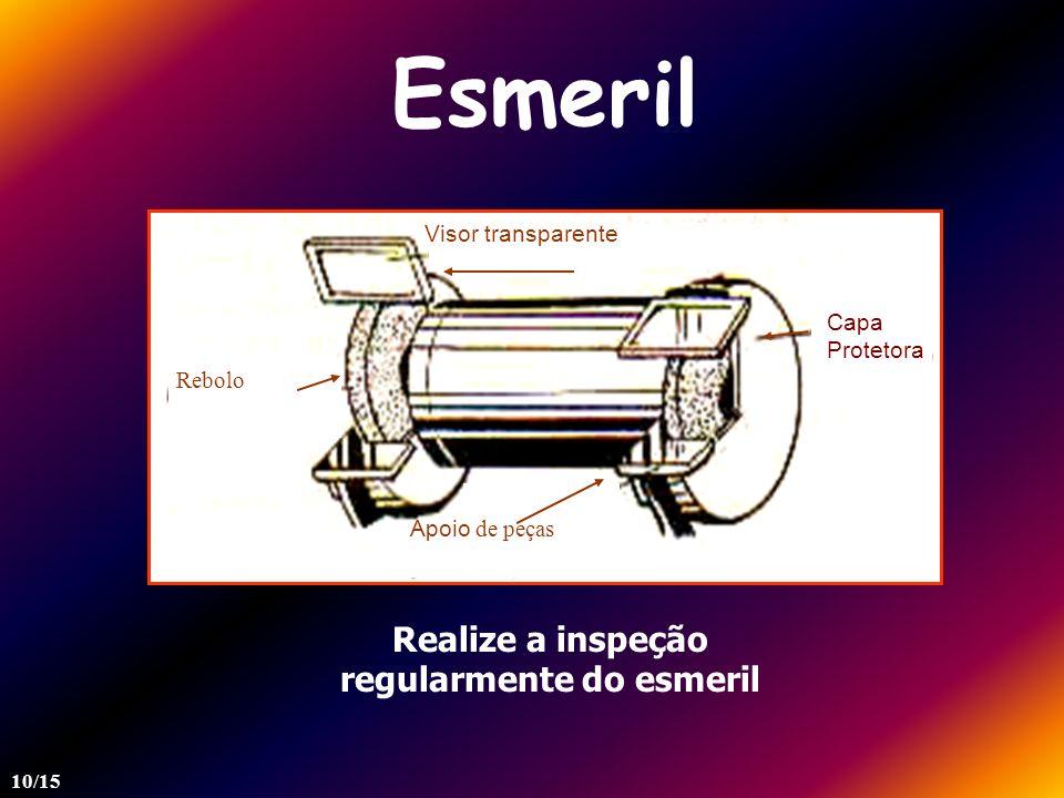 Esmeril Visor transparente Apoio de peças Rebolo Realize a inspeção regularmente do esmeril 10/15 Capa Protetora