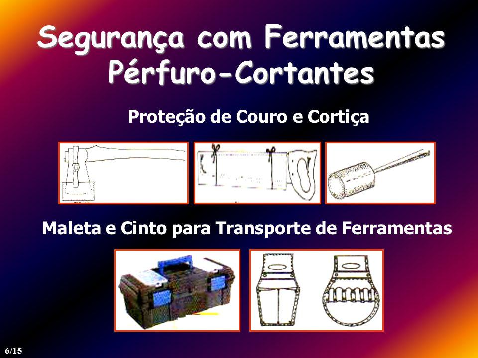 Segurança com Ferramentas Pérfuro-Cortantes Proteção de Couro e Cortiça Maleta e Cinto para Transporte de Ferramentas 6/15