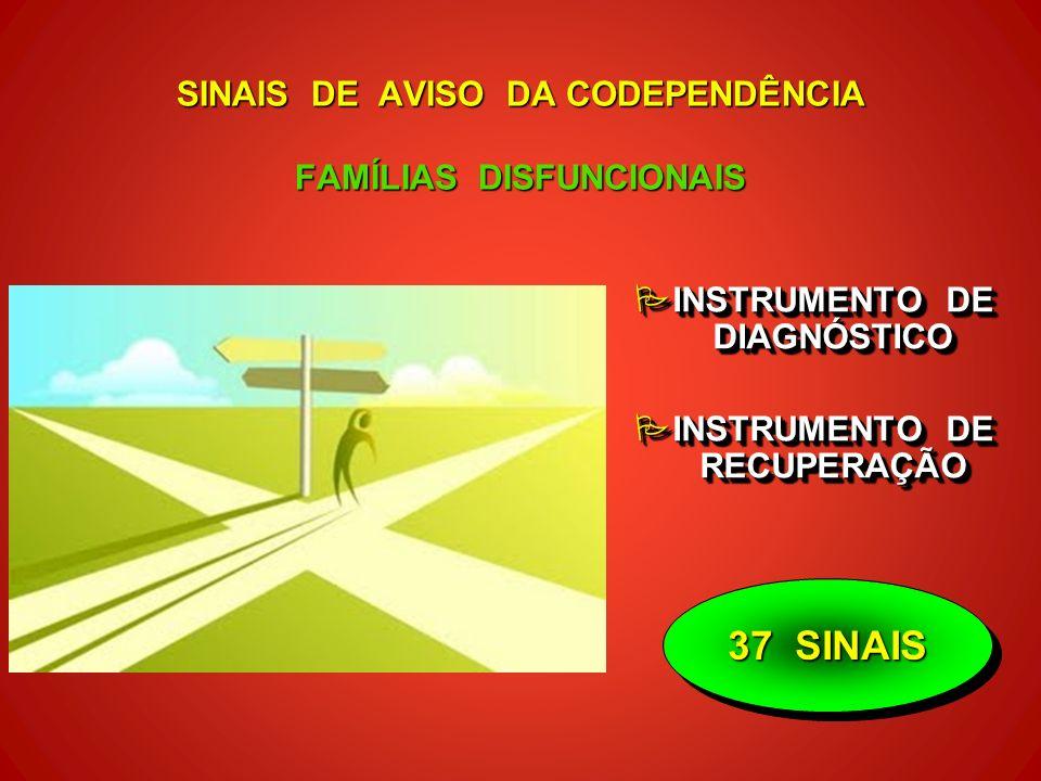37 SINAIS SINAIS DE AVISO DA CODEPENDÊNCIA FAMÍLIAS DISFUNCIONAIS PINSTRUMENTO DE DIAGNÓSTICO PINSTRUMENTO DE RECUPERAÇÃO PINSTRUMENTO DE DIAGNÓSTICO