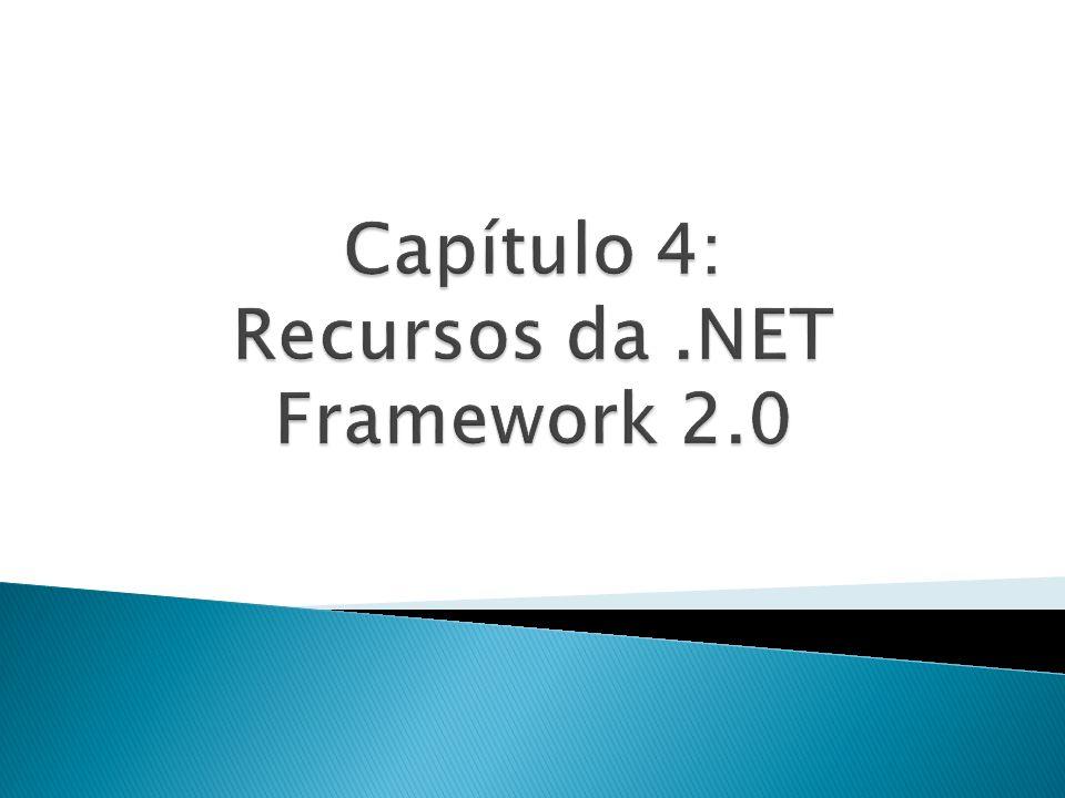 Recurso da versão 2.0 do.NET Framework Permitem parametrizar classes, estruturas, interfaces e métodos Permitem a criação de classes tipadas Localizados no namespace System.Collections.Generic Classes genéricas podem usar restrições para suportar somente determinados tipos de dados