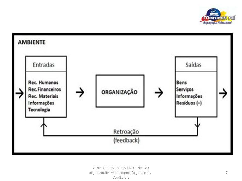 8 A Teoria Contingencial: A Adaptação da Organização ao Ambiente A adaptação da organização ao meio ambiente depende da habilidade da alta administração em interpretar as condições que enfrenta a empresa de maneira apropriada, bem como em adotar um curso de ação significativo.
