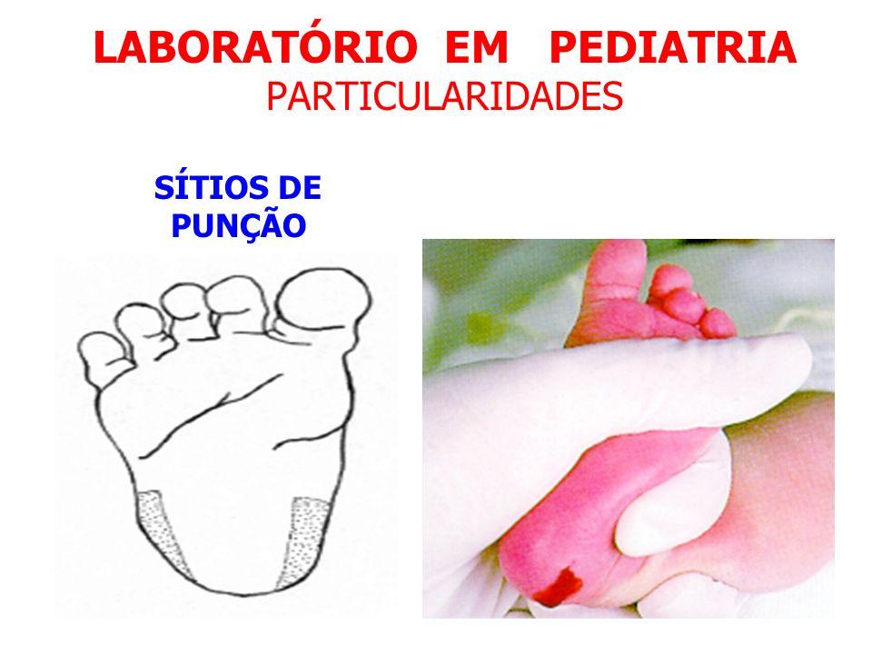 LABORATÓRIO EM PEDIATRIA PARTICULARIDADES SÍTIOS DE PUNÇÃO