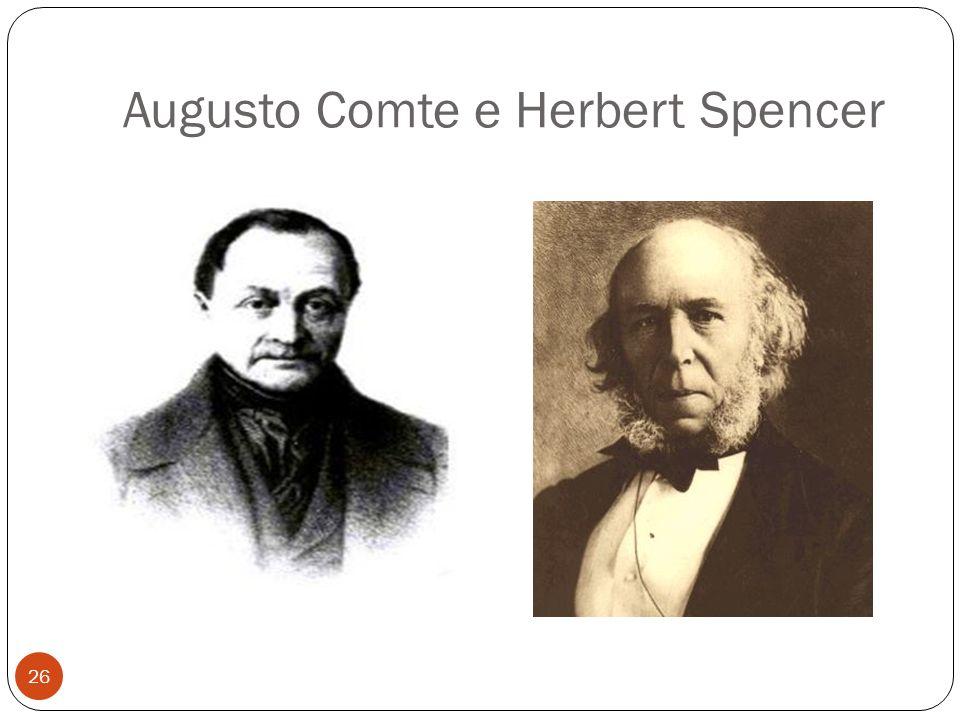 Augusto Comte e Herbert Spencer 26