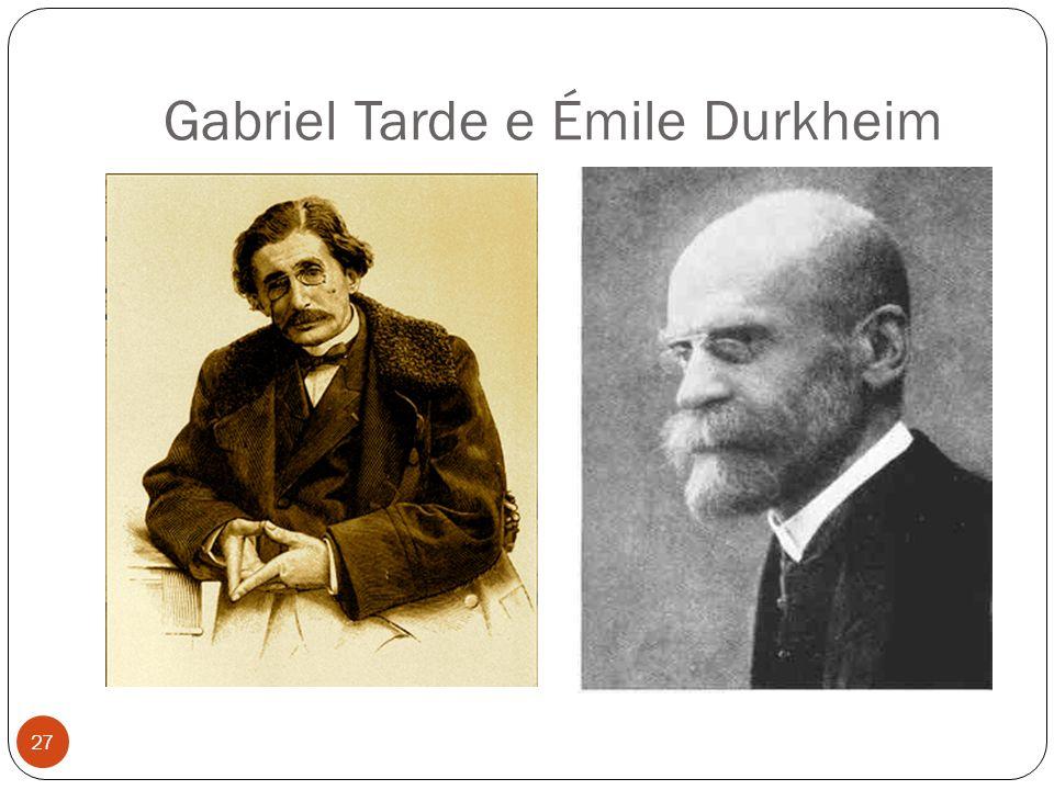 Gabriel Tarde e Émile Durkheim 27