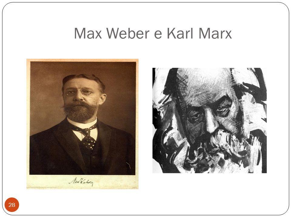 Max Weber e Karl Marx 28