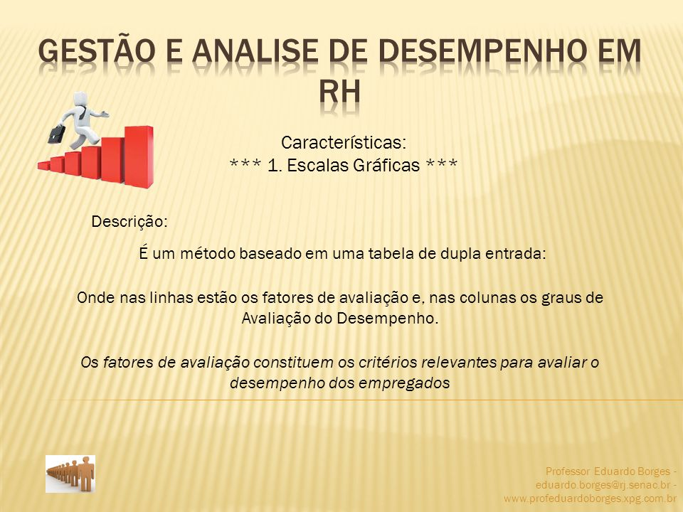 Professor Eduardo Borges - eduardo.borges@rj.senac.br - www.profeduardoborges.xpg.com.br Características: *** 1. Escalas Gráficas *** Descrição: É um