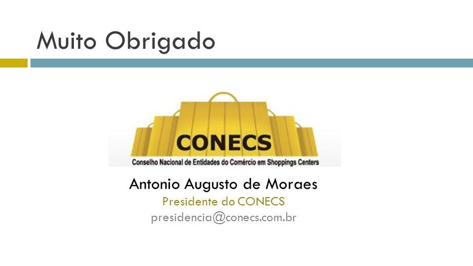 Muito Obrigado Antonio Augusto de Moraes Presidente do CONECS presidencia@conecs.com.br