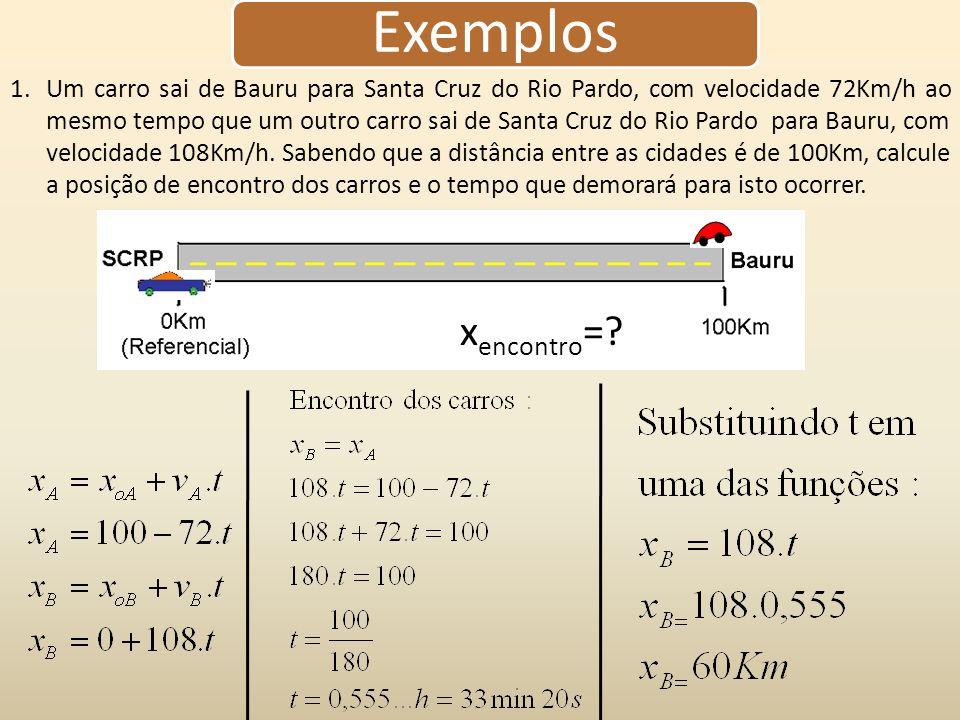 Aceleração(a) Representa a taxa de variação da velocidade.