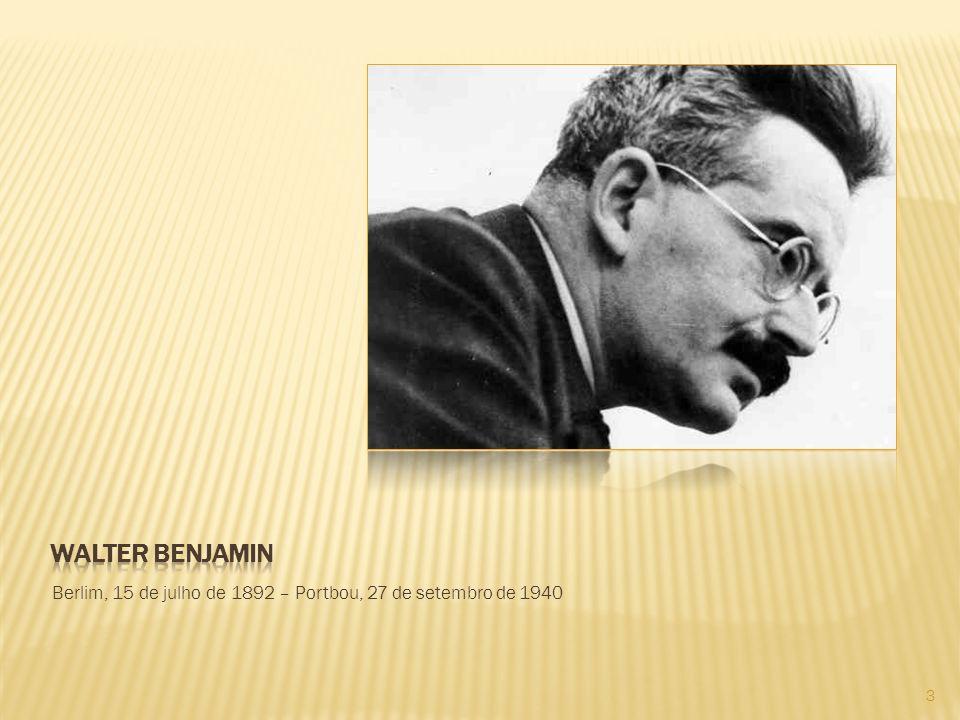 Walter Benjamin foi ensaísta, crítico literário, tradutor, filósofo e sociólogo da cultura.