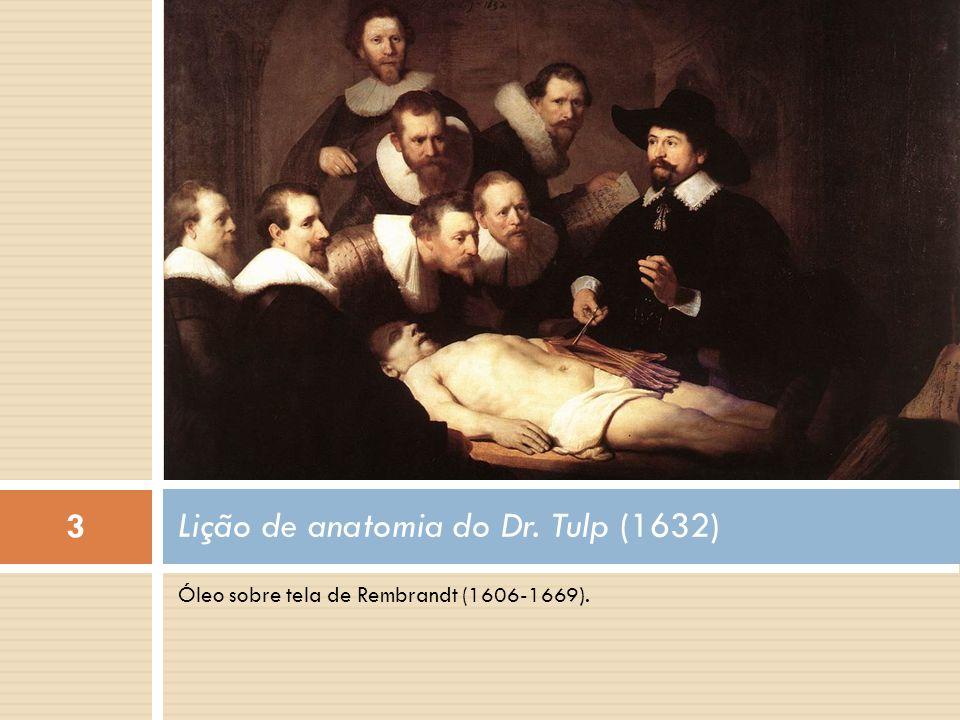 Óleo sobre tela de Rembrandt (1606-1669). Lição de anatomia do Dr. Tulp (1632) 3