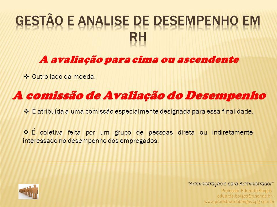 Professor Eduardo Borges - eduardo.borges@rj.senac.br - www.profeduardoborges.xpg.com.br Outro lado da moeda. Administração é para Administrador A ava