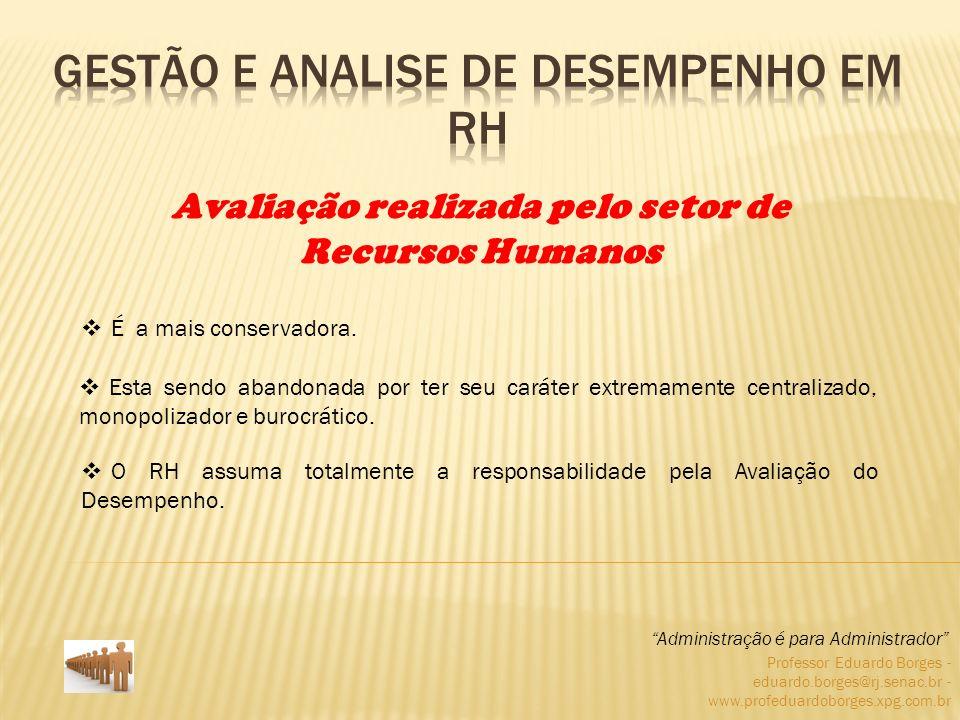 Professor Eduardo Borges - eduardo.borges@rj.senac.br - www.profeduardoborges.xpg.com.br É a mais conservadora. Administração é para Administrador Ava