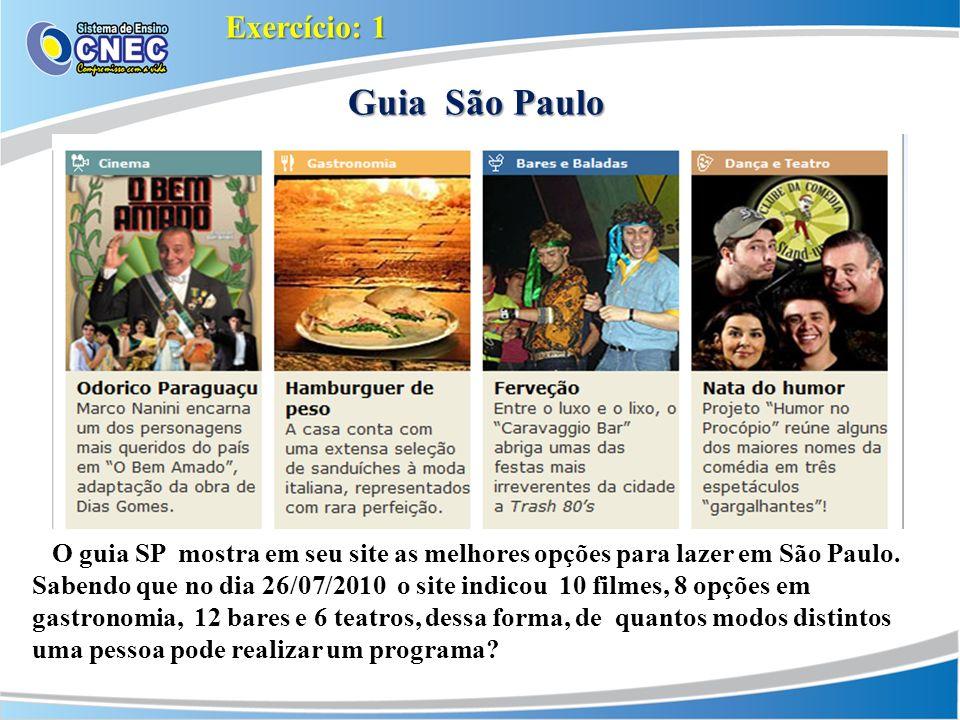 Guia São Paulo O guia SP mostra em seu site as melhores opções para lazer em São Paulo.