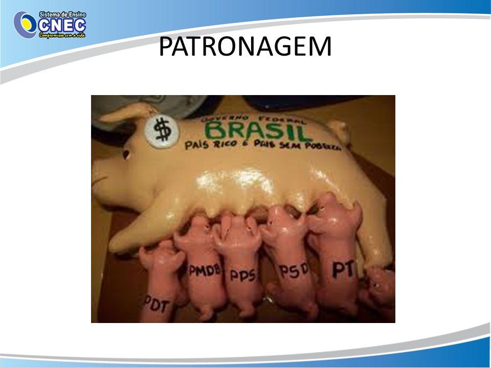 A patronagem está relacionada aos sistemas partidários e ao modo como os governantes exercem cooptação sobre os partidos.