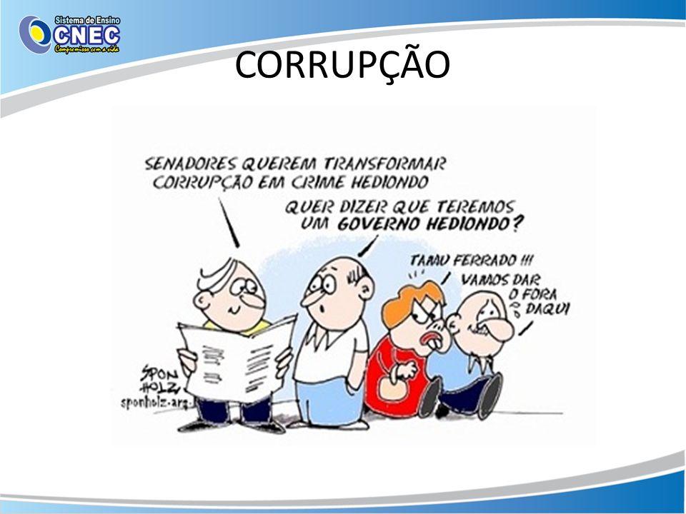 A corrupção ocorre quando um funcionário público recebe vantagens em troca do não cumprimento de um dever oficial, seja para atender ao interesse privado de outro funcionário público, seja para atender ao interesse de um agente privado.