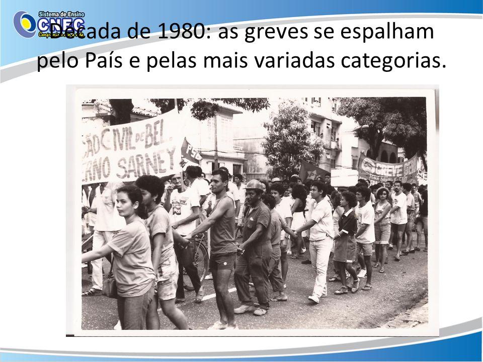 Década de 1980: as greves se espalham pelo País e pelas mais variadas categorias.