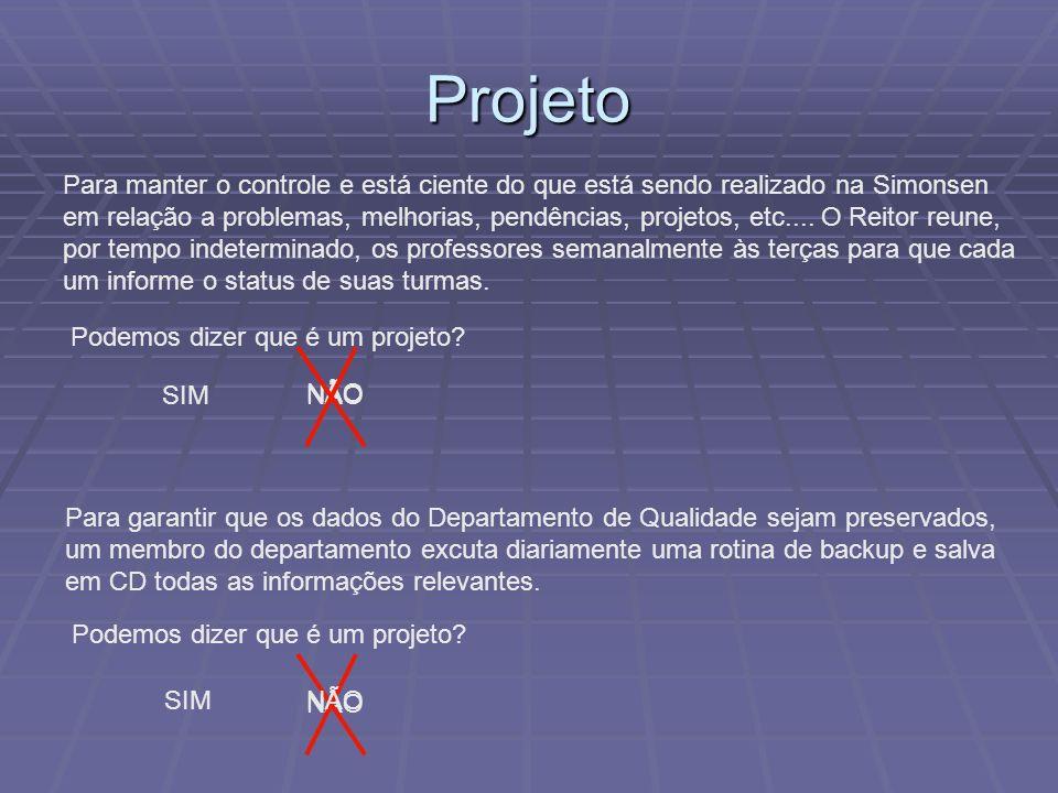 Projeto Para manter o controle e está ciente do que está sendo realizado na Simonsen em relação a problemas, melhorias, pendências, projetos, etc....