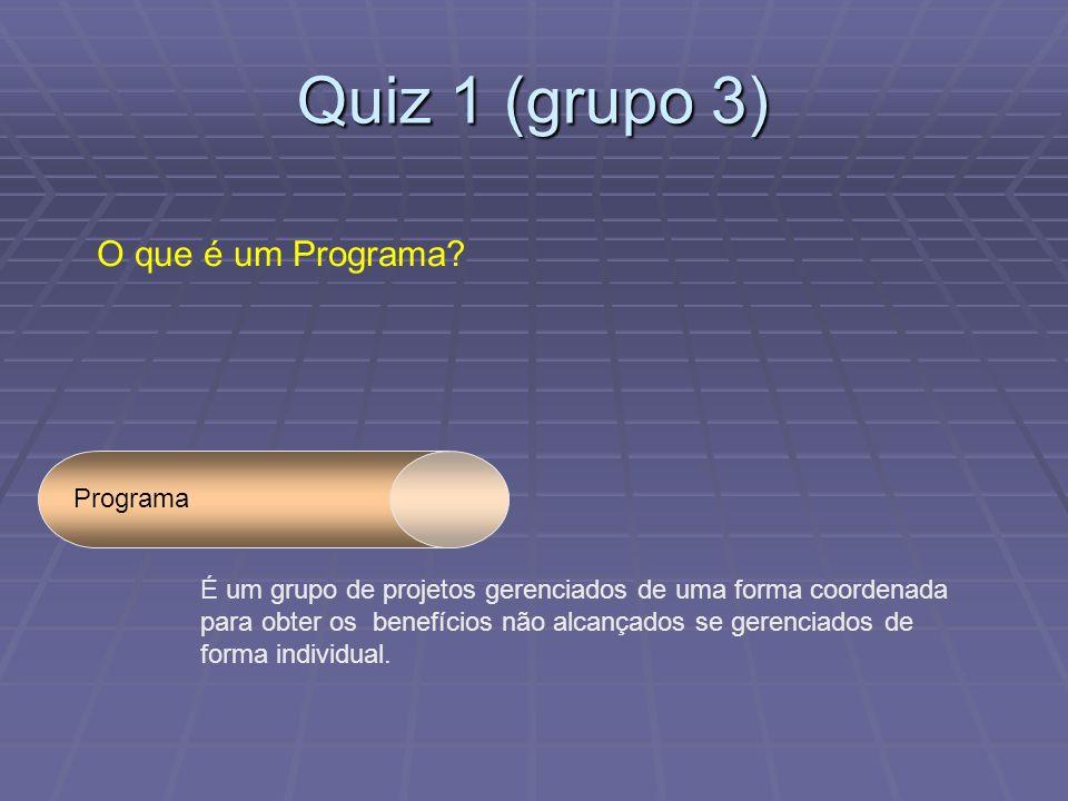 Quiz 1 (grupo 3) O que é um Programa.