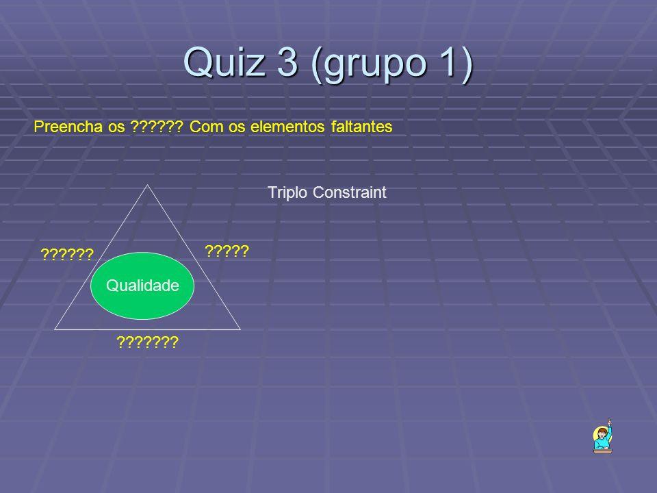 Quiz 3 (grupo 1) Qualidade ??????.?????. ????. Triplo Constraint Preencha os ?????.