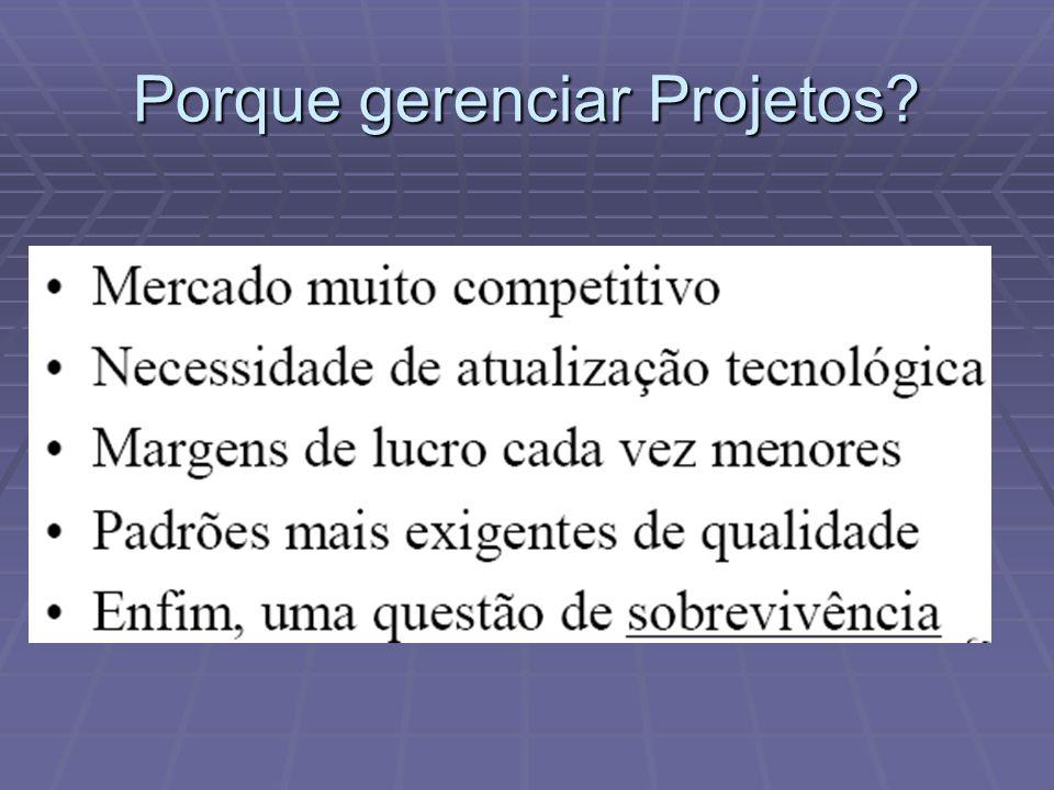 Porque gerenciar Projetos?