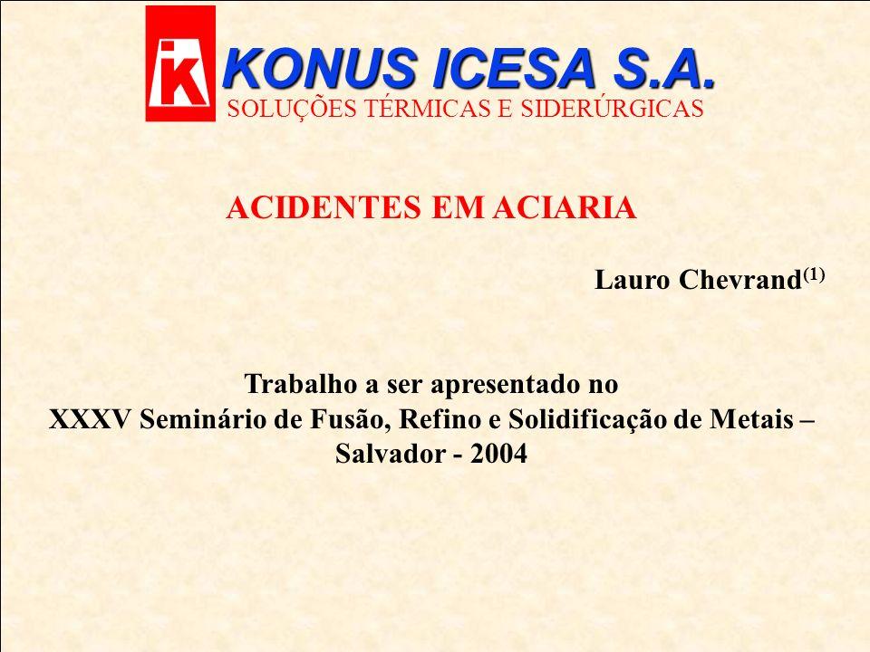KONUS ICESA S.A. SOLUÇÕES TÉRMICAS E SIDERÚRGICAS F-Acidentes/Conseqüências F- Motivos e Soluções