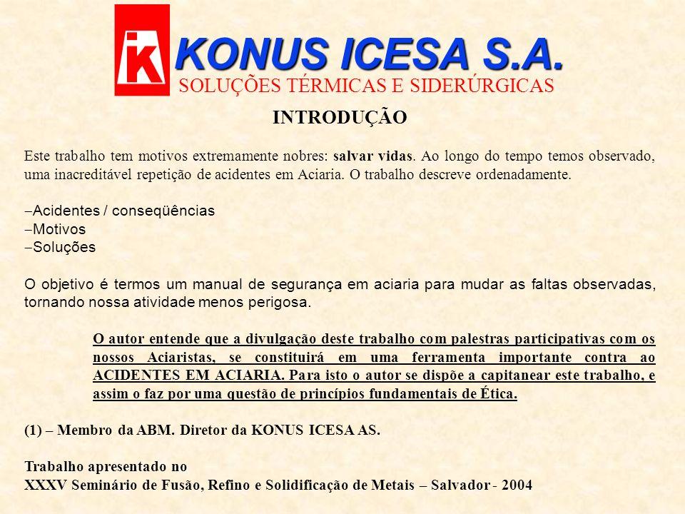 KONUS ICESA S.A. SOLUÇÕES TÉRMICAS E SIDERÚRGICAS