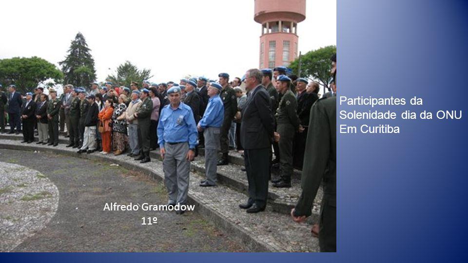 Alfredo Gramodow 11º Participantes da Solenidade dia da ONU Em Curitiba