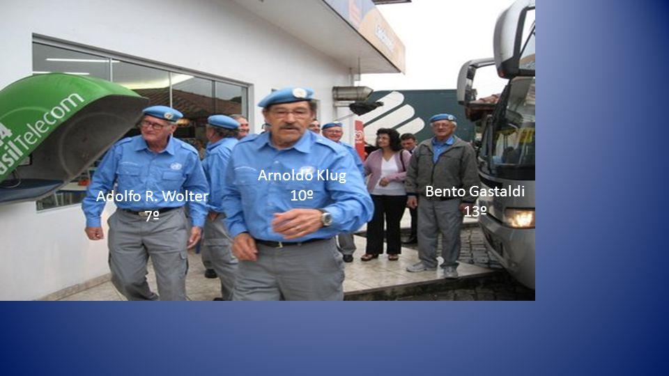 Arnoldo Klug 10º Bento Gastaldi 13º Adolfo R. Wolter 7º