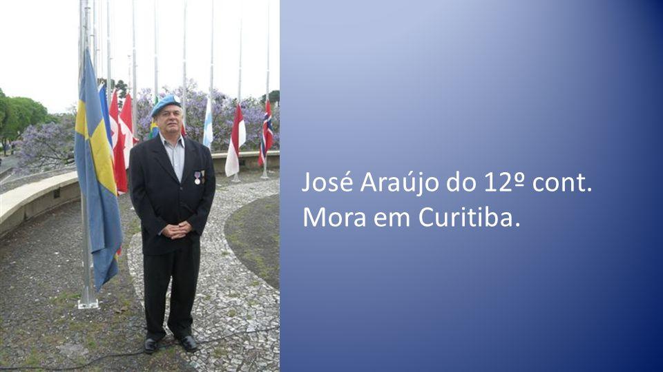 José Araújo do 12º cont. Mora em Curitiba.