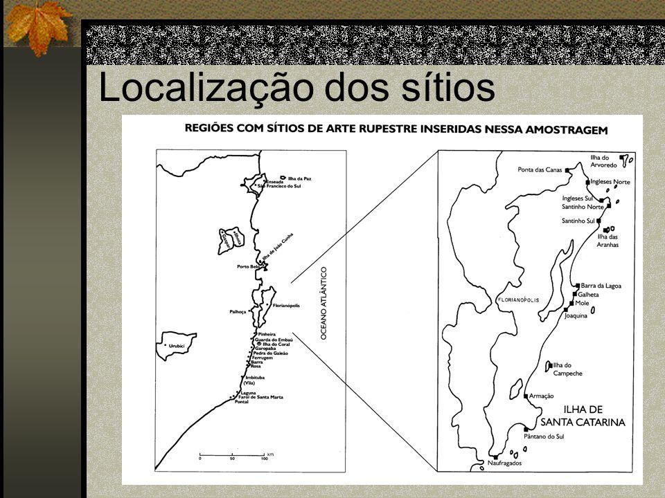 Localização dos sítios