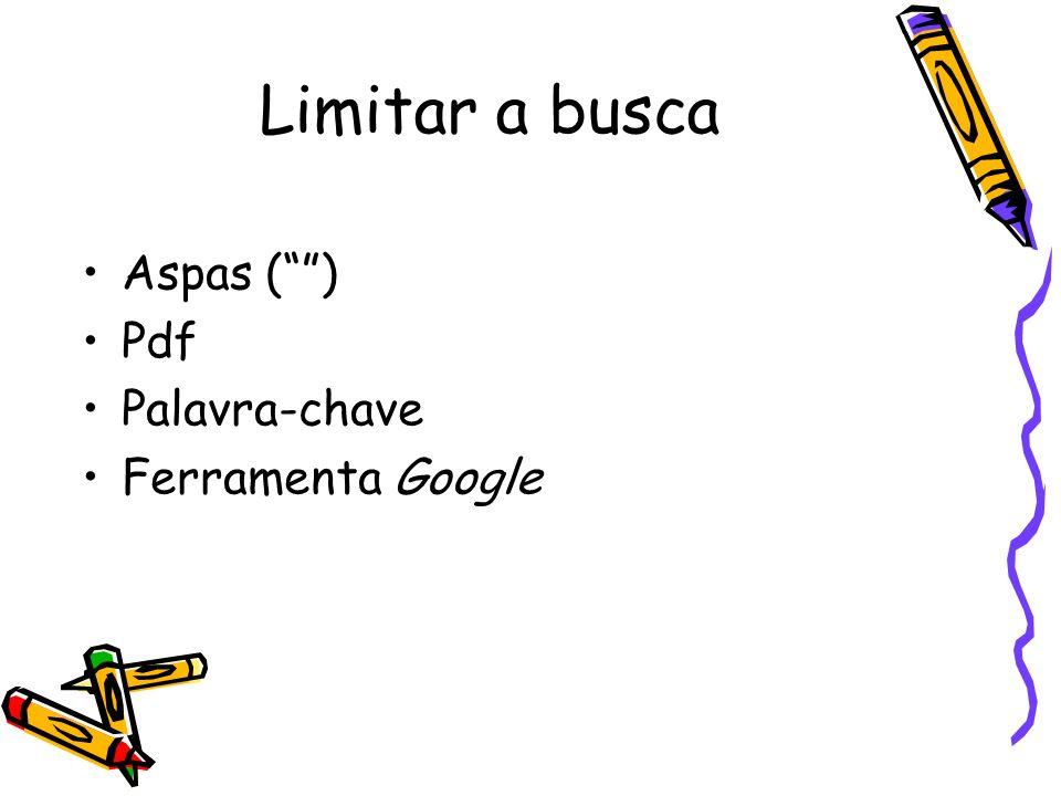 Aspas () Pdf Palavra-chave Ferramenta Google Limitar a busca