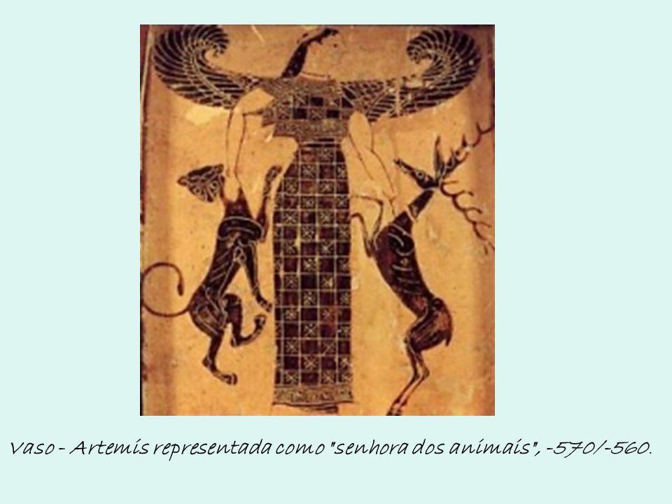 Vaso - Artemis representada como